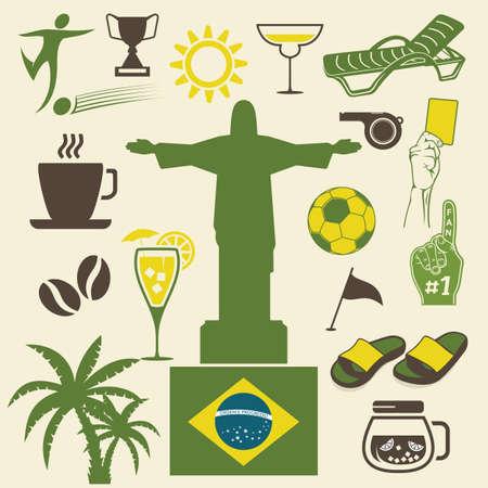 Brazil labels Vector
