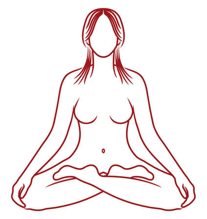 Yoga meditation Stock Vector - 28780354