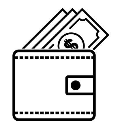 Icône portefeuille de dollar
