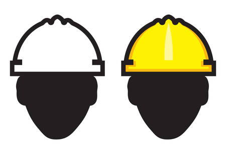 work area: Construction worker Illustration