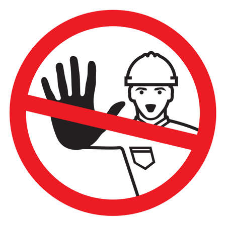 Access denied - construction worker Vector