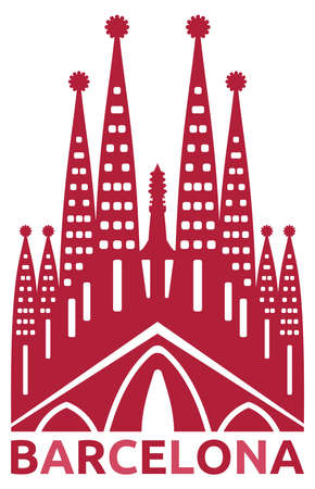 barcelona spain:  Barcelona symbol Illustration