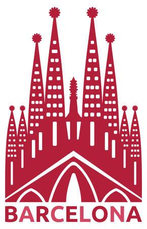 barcelona:  Barcelona symbol Illustration