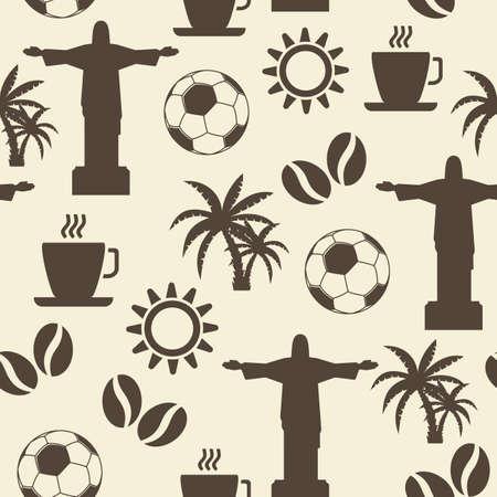 brasil: Seamless Brazil pattern Illustration
