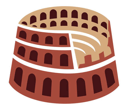 Rome colosseum icon Vector