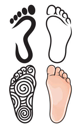 toe: Foot symbol collection