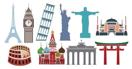 Famous landmarks Vector