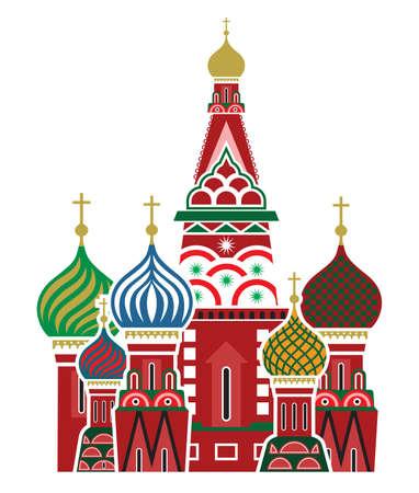 S 聖バジル大聖堂、ロシア - モスクワ シンボル  イラスト・ベクター素材