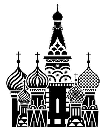 Moscow symbol - Saint Basil s Cathedral, Russia Vector