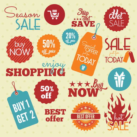 sale tags: Shopping labels