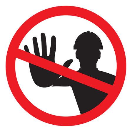 Accès refusé - travailleur de la construction Banque d'images - 28782381