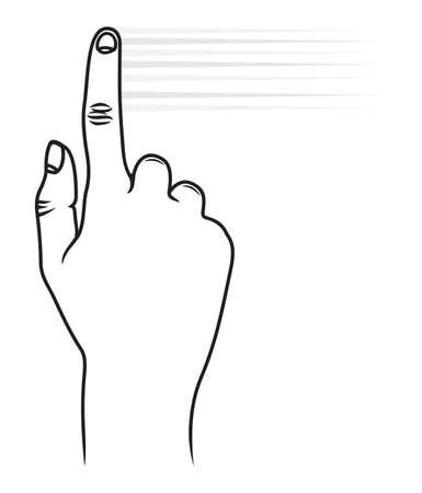 toque: Toque gesto tela Ilustra��o