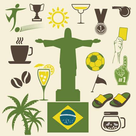 janeiro: Rio de Janeiro symbol Illustration