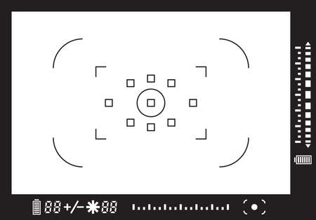 shutter speed: Camera viewfinder