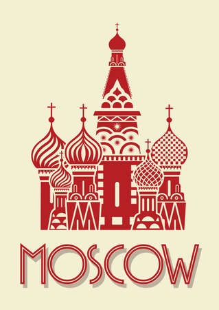 Moscow poster Vector