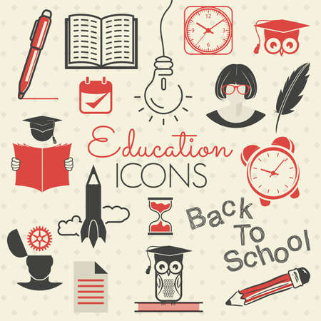 sketch book: Education icons