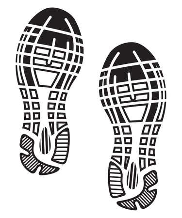 corriendo: plantas de los pies zapatos de impresi�n - zapatillas de deporte