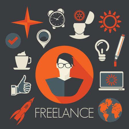 freelancer: Freelancer avatar icon Illustration