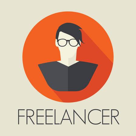 freiberufler: Freelancer avatar Symbol Illustration