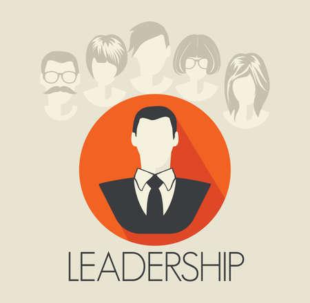 team leadership: Leadership card Illustration