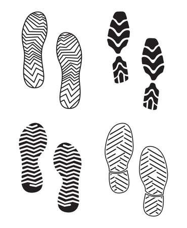 imprint soles shoes - sneakers Vector