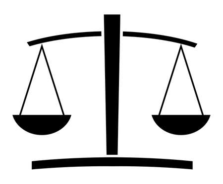 weighing scale: Justice scale Illustration