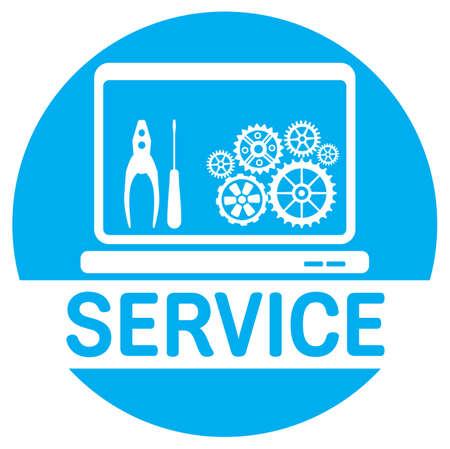 Computer service icon 일러스트