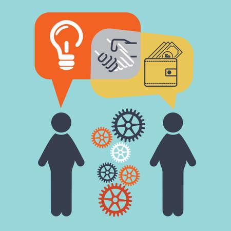partnership power: Business deal Illustration