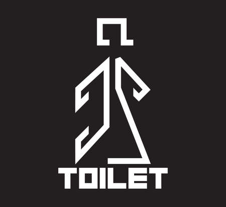 Toilet sign - wc sign Vector