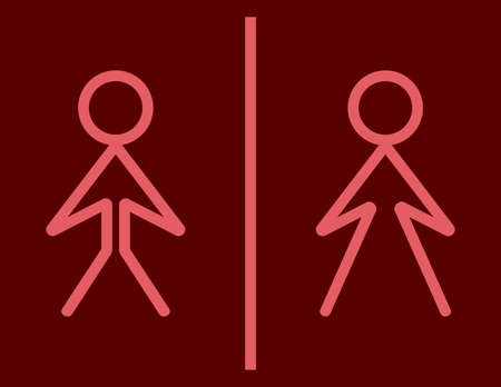 man and women wc sign: Toilet sign - wc sign