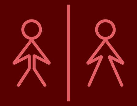 wc: Toilettenzeichen - WC-Zeichen