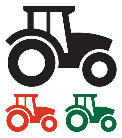 a crop: Tractor icon Illustration