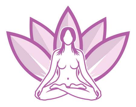 yoga meditation: Meditazione Yoga Vettoriali