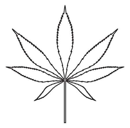 ganja: Feuille de cannabis