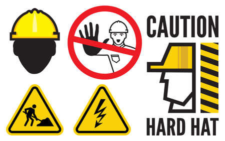 work area: Construction signs