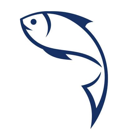 fish scales: Fish symbol Illustration
