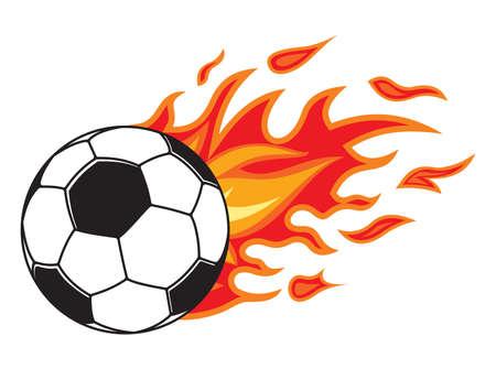 fire ball: Soccer ball in fire