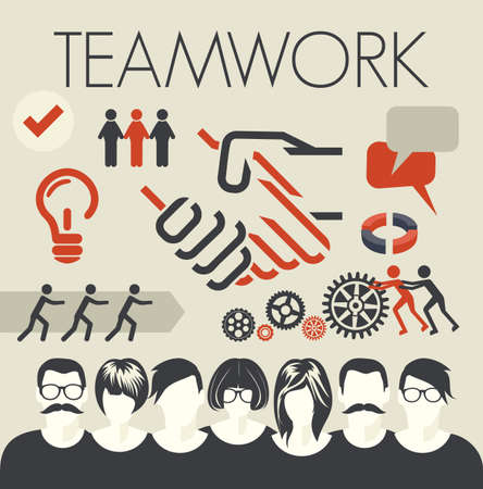 pact: Teamwork card Illustration