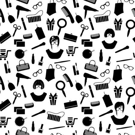 woman accessories pattern Vector