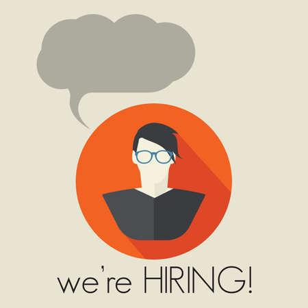 help wanted sign: Estamos contratando