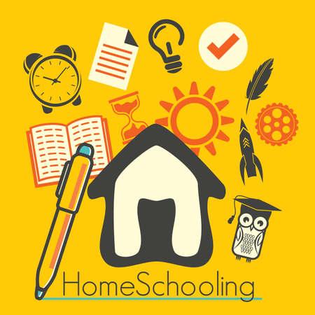 Home schooling Ilustração