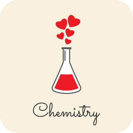 Love Chemistry card Illustration