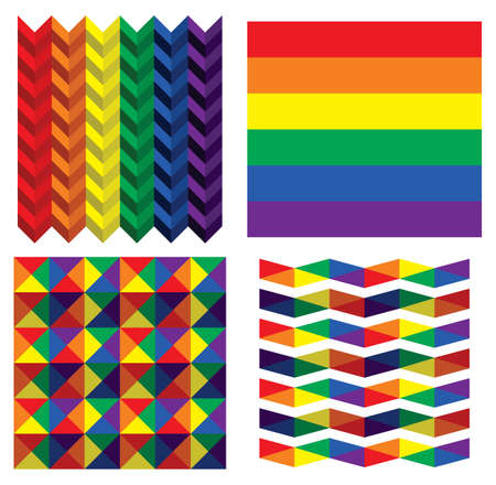 LGBT flag collection Vector