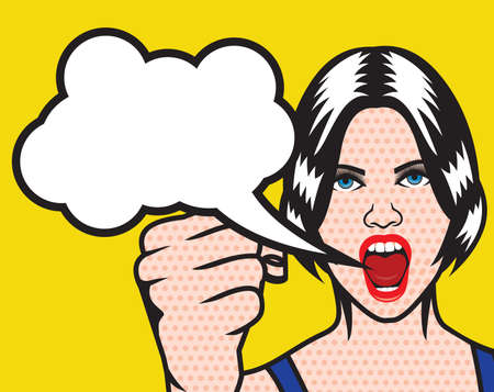 Women rights pop art poster