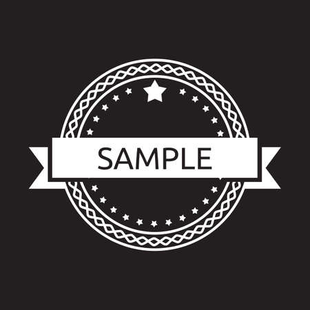 simplistic icon: Vintage label badge Illustration