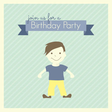 Birthday Party card template Vector