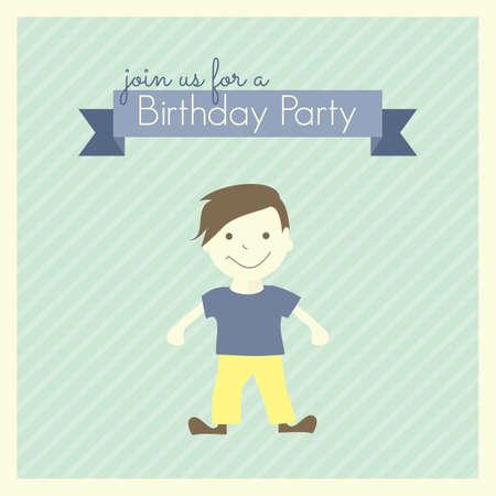 fiesta de cumpleanos: Plantilla de tarjeta de la fiesta de cumplea�os