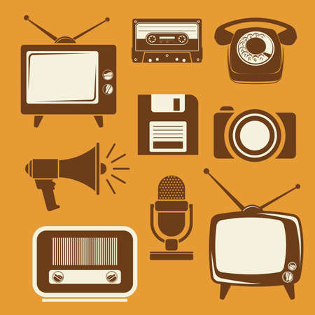 tv station: Retro icons