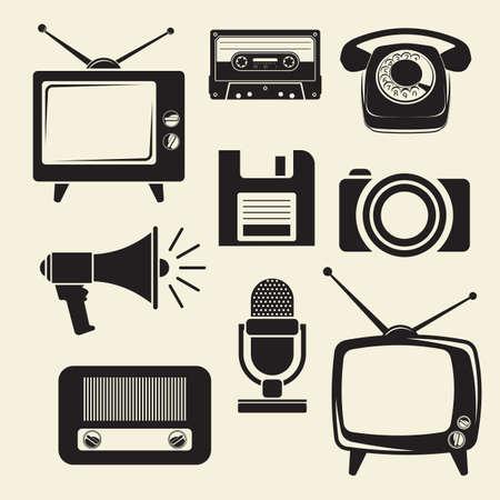 old tv: Retro icons