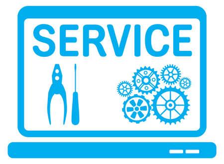 Computer service icon Illustration